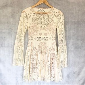 Free People Cream Lace Dress